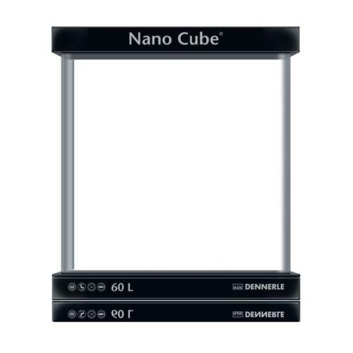 Dennerle NanoCube akvárium fedlappal, alátét szivaccsal - 60 liter