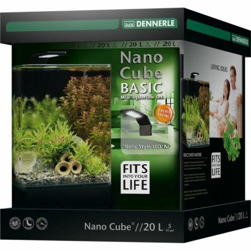 Dennerle NanoCube Basic akvárium szett - szűrővel, Style LED M lámpával - 20 liter