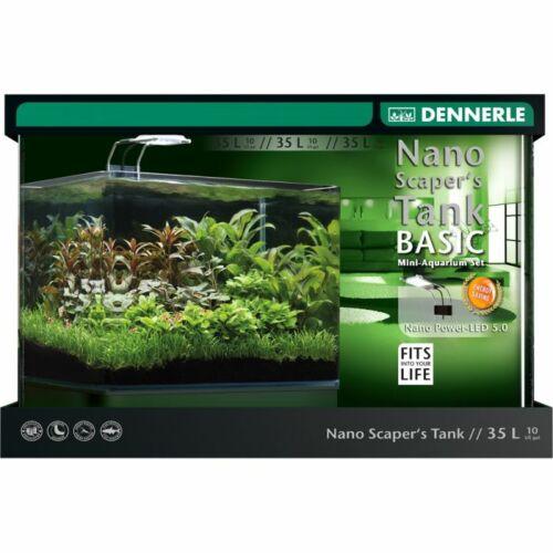 Dennerle Scaper's Tank Basic LED - akvárium szett szűrővel, LED 5.0 világítással - 35l