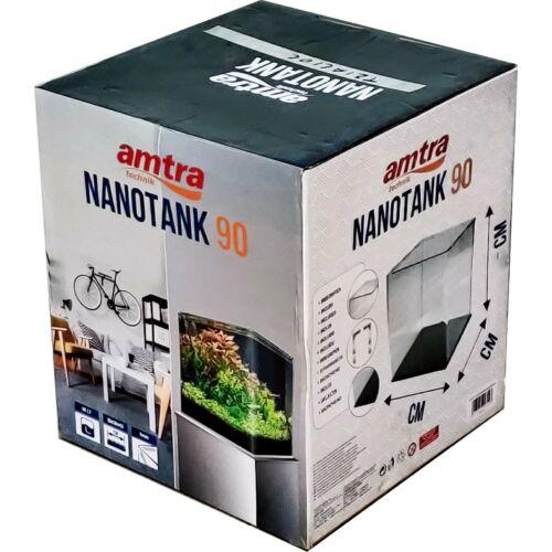 AMTRA NANOTANK 90 (45x45x45cm) EXTRACLEAR - hajlított élű akvárium, üvegtetővel