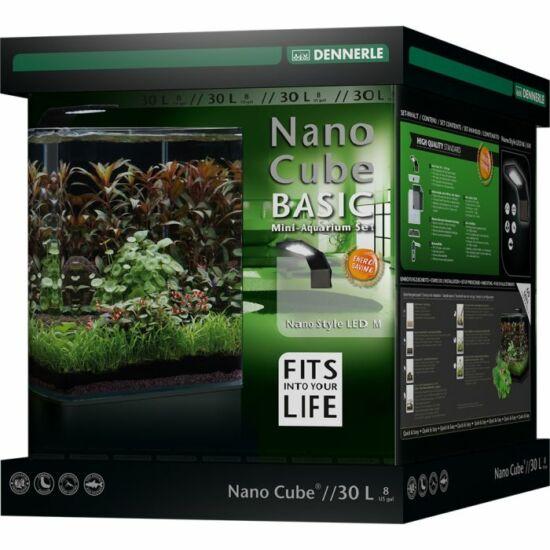 Dennerle NanoCube Basic akvárium szett - szűrővel, Style LED M lámpával - 30 liter