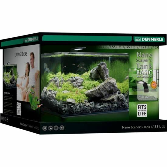 Dennerle Scaper's Tank Basic LED - akvárium szett szűrővel, Style LED L világítással - 55l