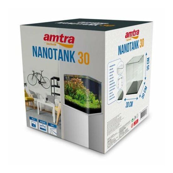 AMTRA NANOTANK 30 (30x30x35cm)  - hajlított élű akvárium, üvegtetővel