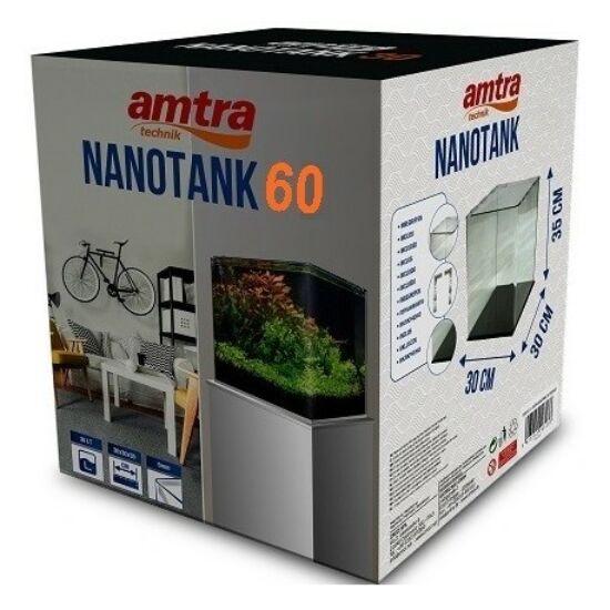 AMTRA NANOTANK 60 (38x38x43cm) - hajlított élű akvárium, üvegtetővel
