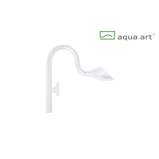 Aqua art üveg kifolyó  17mm / 19cm magas - 16/22-es tömlőhöz